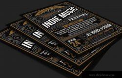 独立音乐节文化活动海报传单模板