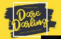 英文书法字体笔刷字体下载 Dare Daling | Script Brush Font