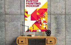 奢华室内场景海报画框样机预览模板