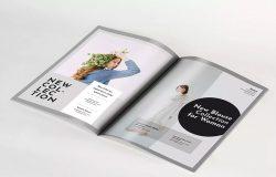 A4产品杂志画册内页版式设计样机模板 A4 Magazine Mockup