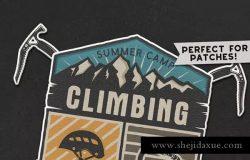 复古旅行/徒步户外运动俱乐部Logo设计模板 Travel Retro Badge / Vintage Climbing Logo Patch