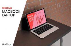 逼真的Macbook笔记本电脑样机