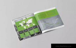 方形企业年报/年度报告设计模板 Square Annual Report