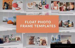 创意悬挂式照片展示样机模板 Float Photo Frame Templates