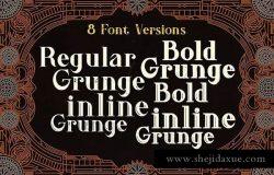 复古设计风格英文字体 Dories – Display Font