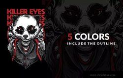 致命之眼睛潮牌T恤印花图案设计素材 Killer Eyes