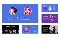 紫色主题成员介绍PowerPoint演示模板