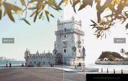 照片后期光线增强亮色处理LR预设 Lisbon Mobile & Desktop Lightroom Presets