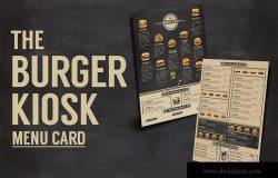 汉堡店点餐菜单设计模板 Burger Kiosk Menu