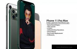 2019全新一代iPhone 11 Pro侧立面正反面视图样机模板 iPhone 11 Pro Layered PSD Mock-ups