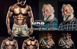 高品质电影感肌肉运动线条美感锐化磨皮Photoshop动作