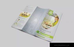 三折页简约商务主题宣传单设计模板v4 Business Trifold Brochure Vol 4