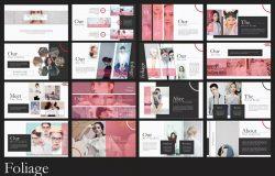 创意独特个性时尚版面幻灯片PPT模板