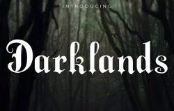 复古老哥特式英文衬线字体 Darklands – A Blackletter Font
