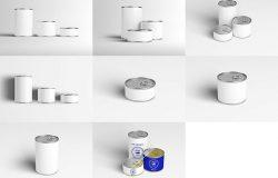 易拉罐包装样机模版 Can Preserve Mock-Up