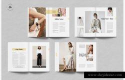 HANSLEY时尚摄影/服装杂志设计模板
