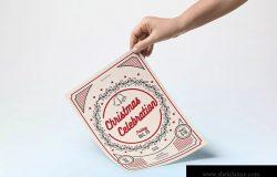 简约经典设计风格圣诞节庆祝活动海报设计模板 Classic Christmas Celebration