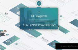 企业优势企业介绍SWOT分析Keynote幻灯片模板 Ui Magazine – Keynote LS