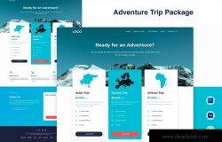 旅游定制服务网站着陆页设计模板 Pricing Table Landing Page Template – Trip Package
