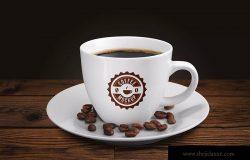 咖啡陶瓷杯咖啡品牌VI展示样机