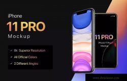 8K超高清分辨率iPhone 11 Pro手机样机模板 iPhone 11 Pro Mockup