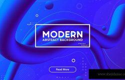 网页设计液态色彩抽象背景图素材