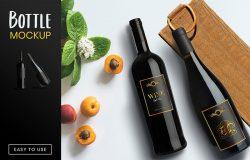 葡萄酒/洋酒酒瓶外观设计效果图样机