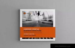 简约风格方形企业介绍手册设计模板 Square Company Profile