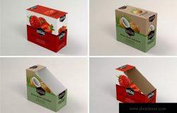 13包装零售货架零食包装盒设计样机模板 Retail Shelfbox 13 Packaging Mockup