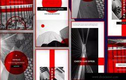 企业品牌故事Instagram横幅广告设计 Corporate Instagram Banners Stories