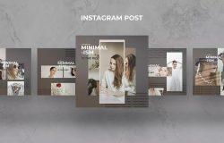 极简主义设计风格服装品牌促销Instagram帖子模板