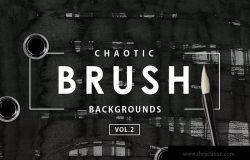 30种手工油墨颜料肌理纹理素材包v2 Chaotic Brush Backgrounds Vol.2
