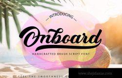 平滑圆润英文笔刷书法字体 Onboard | Smooth Script Font