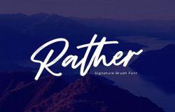 马克笔手写效果英文字体素材 Rather – Brush Font