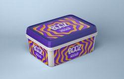 冰淇淋包装盒设计效果图样机模板