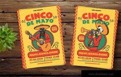 墨西哥五月五日文化节活动海报传单设计模板 Cinco De Mayo Celebration