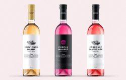 葡萄酒/鸡尾酒酒瓶包装创意概念模板