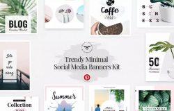 Pinterest社交媒体网站贴图&广告设计模板 Pinterest Social Media Template