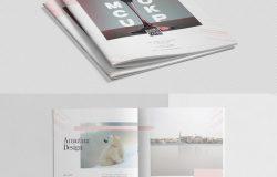 43个高品质的时尚高端杂志品牌手册画册楼书书籍装帧VI样机展示模型mockups大集合