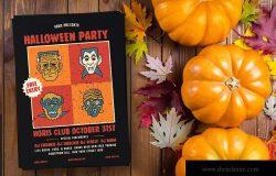 万圣节主题派对活动海报设计模板 Halloween Party