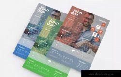 设计师个人简历&介绍信设计模板 Designer Resume & Cover Letter Template