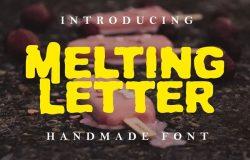 融化风格手工制作英文字体 Melting Letter