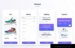 运动装备网上商城APP应用UI设计套件 Spojeeto E-commerce Mobile App UI Kit