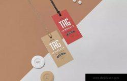 服装吊牌标签设计模板 Apparel Swing Tag Design Template