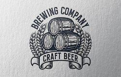 复古设计风格酿酒企业Logo商标设计模板