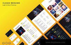 简约风简历&企业名片设计模板合集下载 Simple Resume + Bussiness Card