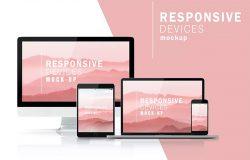 响应式网页设计多设备展示效果图样机模板