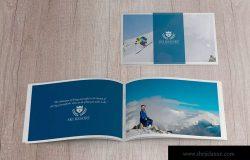 美国信纸规格宣传册封面&内页印刷效果图样机 US Half Letter Cover & Open Pages Mockup