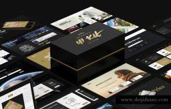 高质量!高逼格!黑金网页Web UI工具包素材 Milestone UI Kit