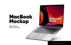 悬浮式MacBook Pro样机模板